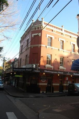 Shakespeare Hotel Sydney