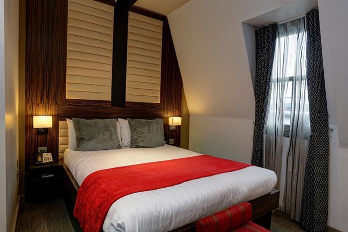Hotellrommet vårt på The Matrise Hotel i Maida Vale