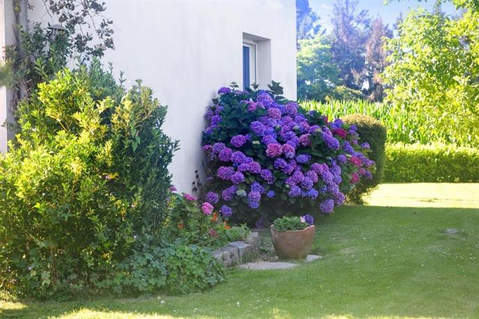 Peaceful house with flower garden